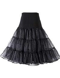 GloryStar パニエ ボリューム パニエロング スカート チュチュスカート チュニック ふんわりパニエ 3段ふわふわパニエ フリルいっぱい カラースカート ショート フリル 3サイズ