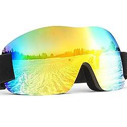 CIVIO スキーゴーグル スノボーゴーグル 球面レンズ 三重スポンジ UVカット  人間工学設計 防風 防雪 防塵