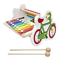 Toygogo 木製8音符オクターブ木琴ピアノ自転車計算フレーム子供数学&楽器教育玩具