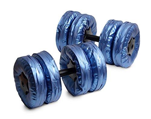 マッスルプロジェクト ウォーターダンベル 7.5㎏×2個セット(ブルー) 《水なので落としても安全、重量も調整可能。収納に場所を取らない》 【プロレスリング・ノア 丸藤選手おすすめ】