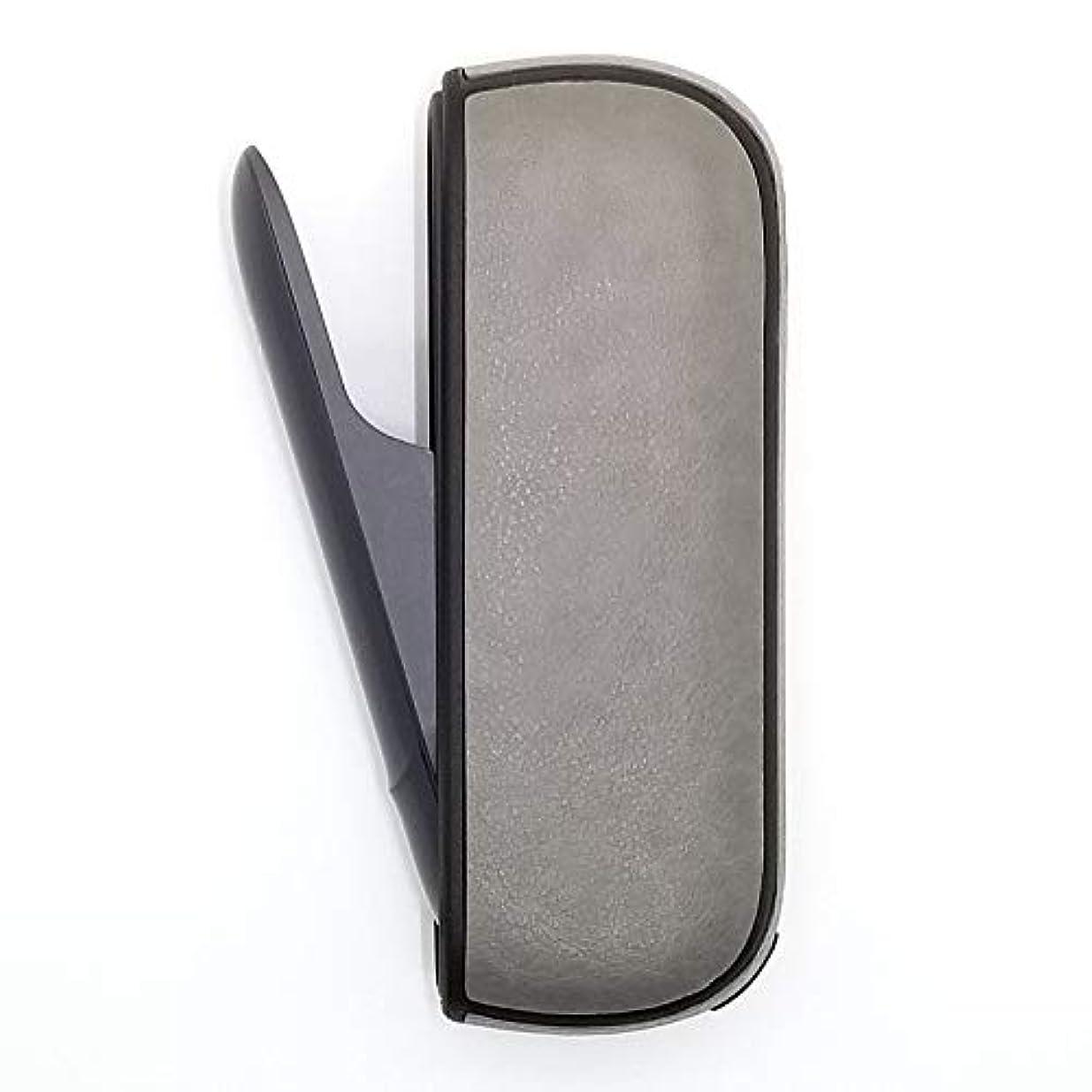 遊び場悪魔カフェIQOS3 レザー調カバー PU製アイコス3保護ケース (グレー)