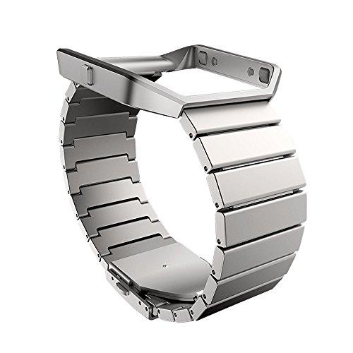 [해외]Fitbit 맞는 비트 Blaze 전용 순정 교체 손목 밴드 프레임있는 럭셔리 메탈 스테인레스 스틸 한 사이즈 일본 정품 FB159MLSR-APAC/Fitbit fit bit Blaze exclusive genuine replacement wrist band with frame Luxury Metal Stainless Steel One siz...