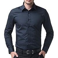 PAUL JONES Men's Slim Fit Casual Button Down Business Dress Shirt
