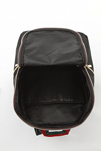 軽量高密度ナイロンリュック おしゃれ通勤通学人気PCバックパック (ブラック)