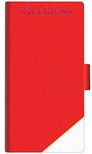 アローズ M02 スマホケース 手帳型 YC860 レクレスレッド 横開き【ノーブランド品】