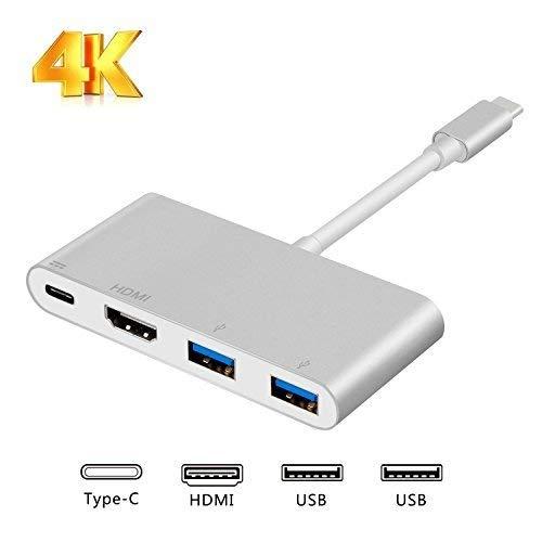 USB C ハブ 4in1 USB Type C to HDMI/USB/PD 変換アダプタ Samsung Galaxy S8、Macbook/ Pro 対応