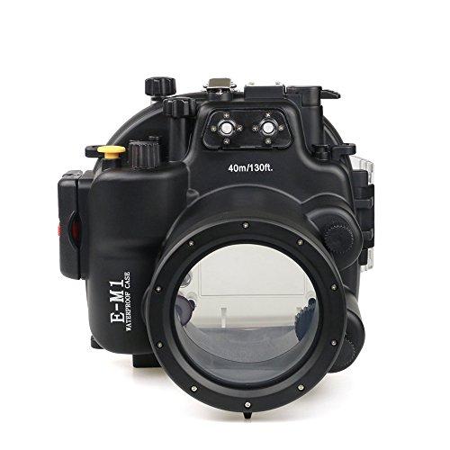 [해외]Sea Frogs Olympus E-M1 용 수중 카메라 케이스 수중 하우징 방수 성능 40m 방수 프로텍터 방수 케이스 방수 하우징 보호 케이스 방수 케이스 수중 촬영용 국제 방수 등급 IPX8 블랙/Sea Frogs Olympus Underwater camera housing for E-M1 Waterpro...