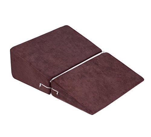 Meiz 三角枕 なだらかクッション 逆流性食道炎 体圧分散 傾斜枕 高反発マット ベビー枕 二折 (50cm ブラウン)