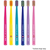 Ultra soft toothbrush, 6 brushes, Curaprox Ultra Soft 5460. Softer feeling & better cleaning, in amazing vivid...