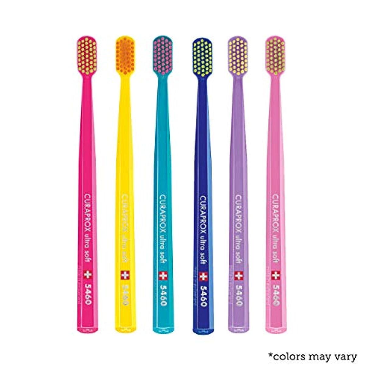 に利益に応じてUltra soft toothbrush, 6 brushes, Curaprox Ultra Soft 5460. Softer feeling & better cleaning, in amazing vivid...