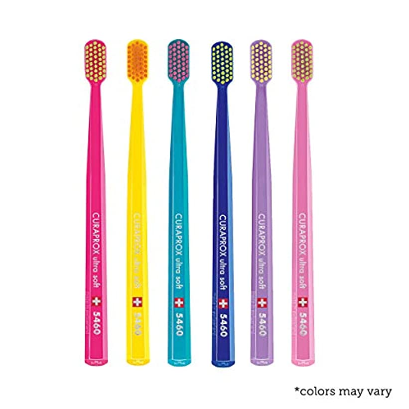 立証する前提条件出演者Ultra soft toothbrush, 6 brushes, Curaprox Ultra Soft 5460. Softer feeling & better cleaning, in amazing vivid...