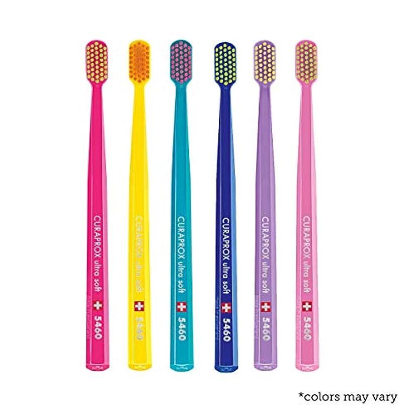 ヒューズ急性インタネットを見るUltra soft toothbrush, 6 brushes, Curaprox Ultra Soft 5460. Softer feeling & better cleaning, in amazing vivid...