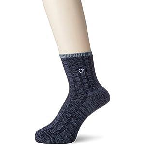 (カルバンクライン)Calvin Klein カジュアル ショートソックス ネップ 2525441 67 ネイビー 27-29cm
