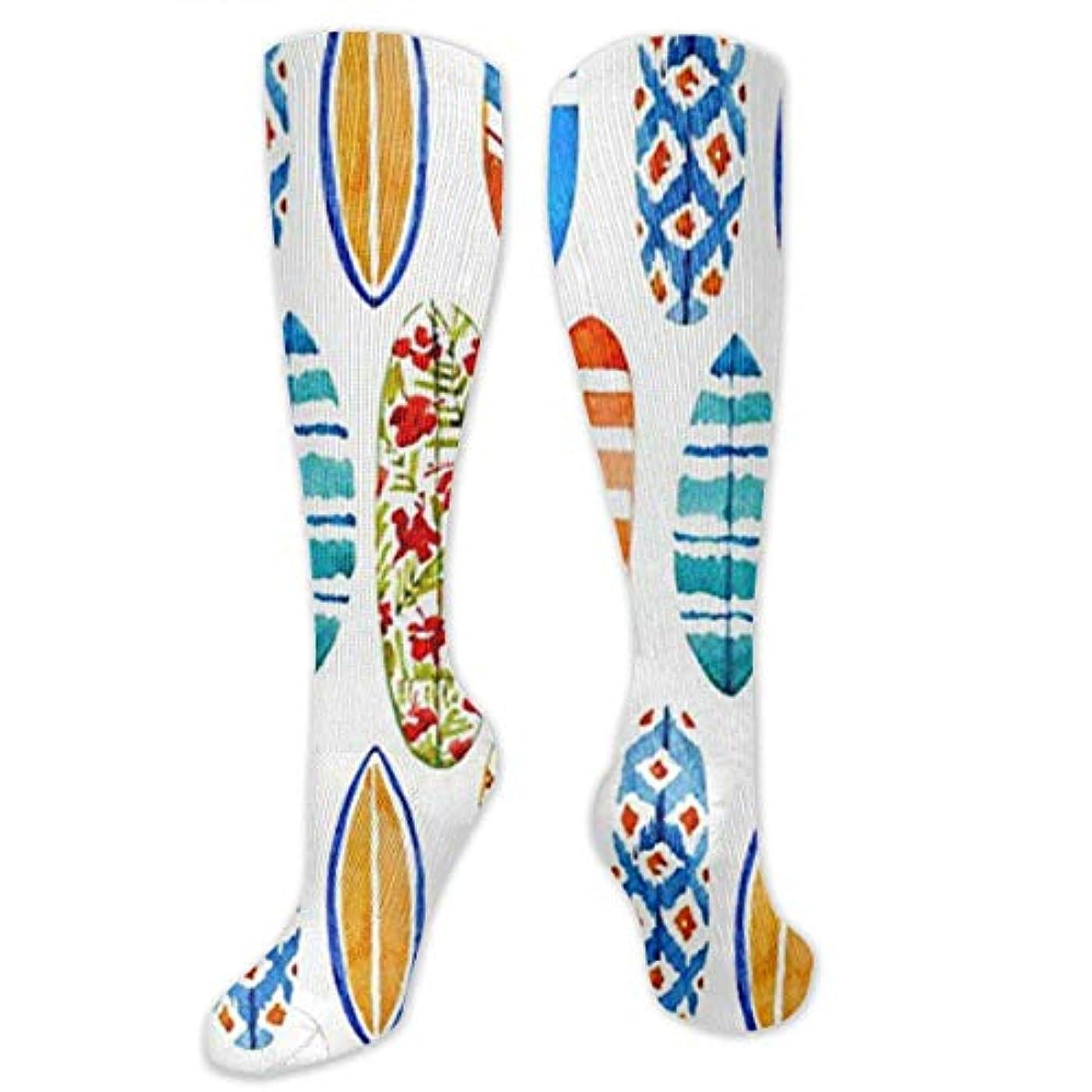 舌な性別軍艦靴下,ストッキング,野生のジョーカー,実際,秋の本質,冬必須,サマーウェア&RBXAA Watercolor Surfboards Socks Women's Winter Cotton Long Tube Socks...