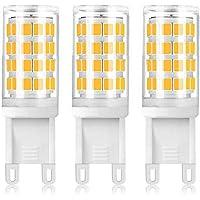 G9口金 4W セラミックス LED電球 110V 51pcs 2835 SMD LEDランプ 40Wハロゲンランプ相当 全方向広配光 トウモロコシライト 調光可能 3個入り 電球色