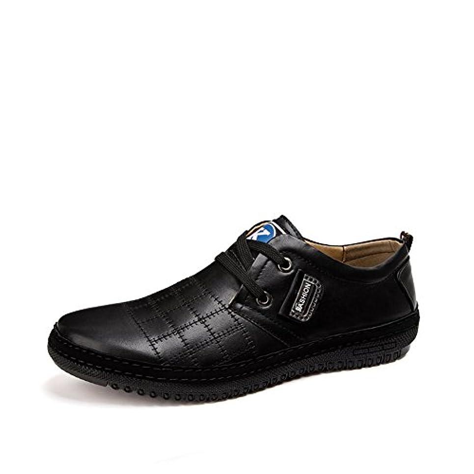 伝統的染色北極圏agileメンズカジュアルシューズドレスシューズを通気性の靴ひもで締めますメンズ レースアップシューズ