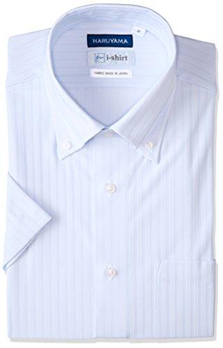 [ハルヤマ] i-shirt 【アマゾン別注】 ノーアイロン 半袖 ボタンダウンアイシャツ メンズ M162180036 サックス 日本 L(首回り41cm) (日本サイズL相当)