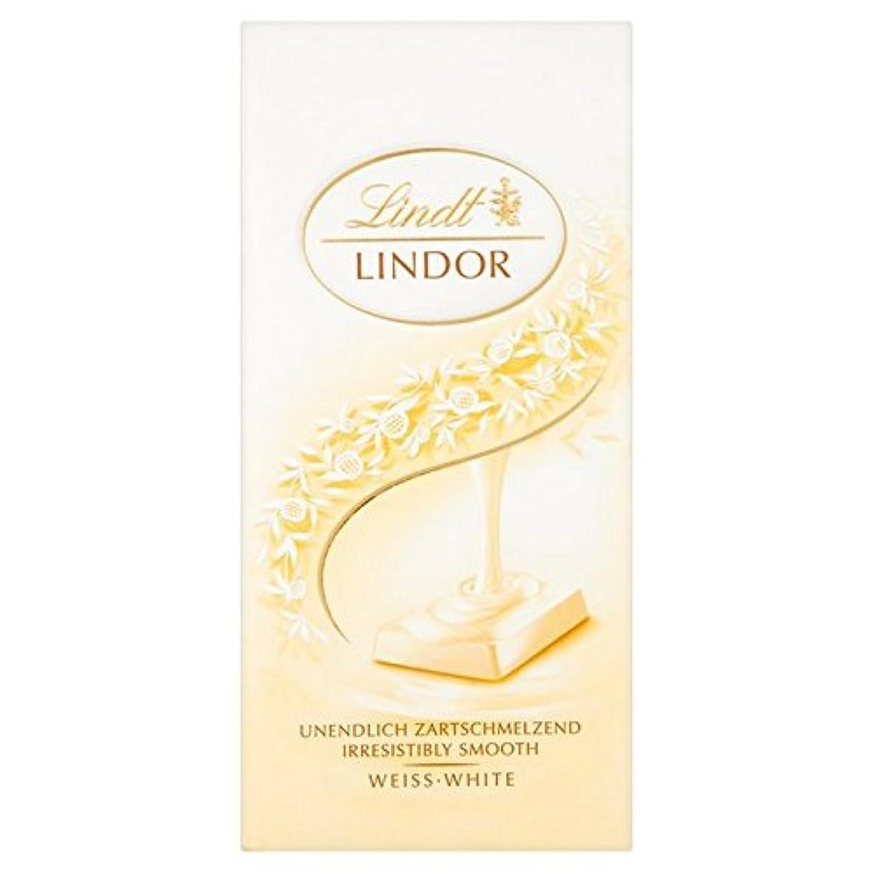 バスト不適切な承知しました(Lindt (リンツ)) Lindor白バー100グラム (x4) - Lindt Lindor White Bar 100g (Pack of 4) [並行輸入品]