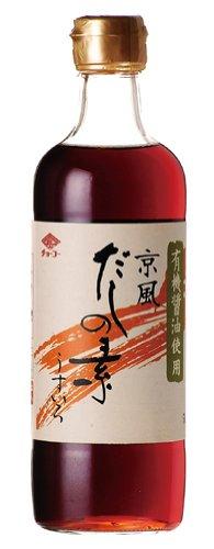 チョーコー 有機醤油使用京風だしの素 500ml 瓶