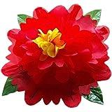 【手品 マジック】超リアルボタン 空手から花が現れ アピアリング フラワーマジック 近景舞台用マジック道具 手品道具 (赤, 80cm)
