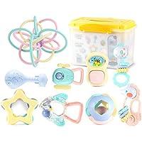 ハンドベルラトル赤ちゃん新生児臼歯 - 赤ちゃんのラトルとおもちゃのギフトセット ( Color : B )