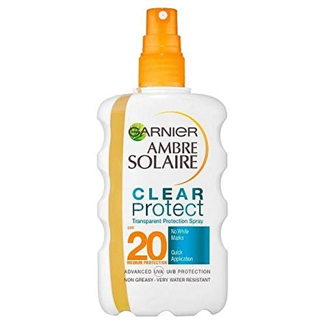 元気実用的信者[Garnier ] アンブレSolaire超水和日クリームスプレーSpf20の200ミリリットル - Ambre Solaire Ultra-hydrating Sun Cream Spray SPF20 200ml...