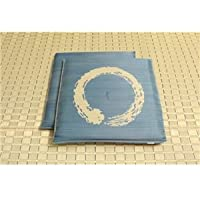 純国産/日本製 捺染返し い草座布団 『大関 2枚組』 ブルー 約55×55cm×2P