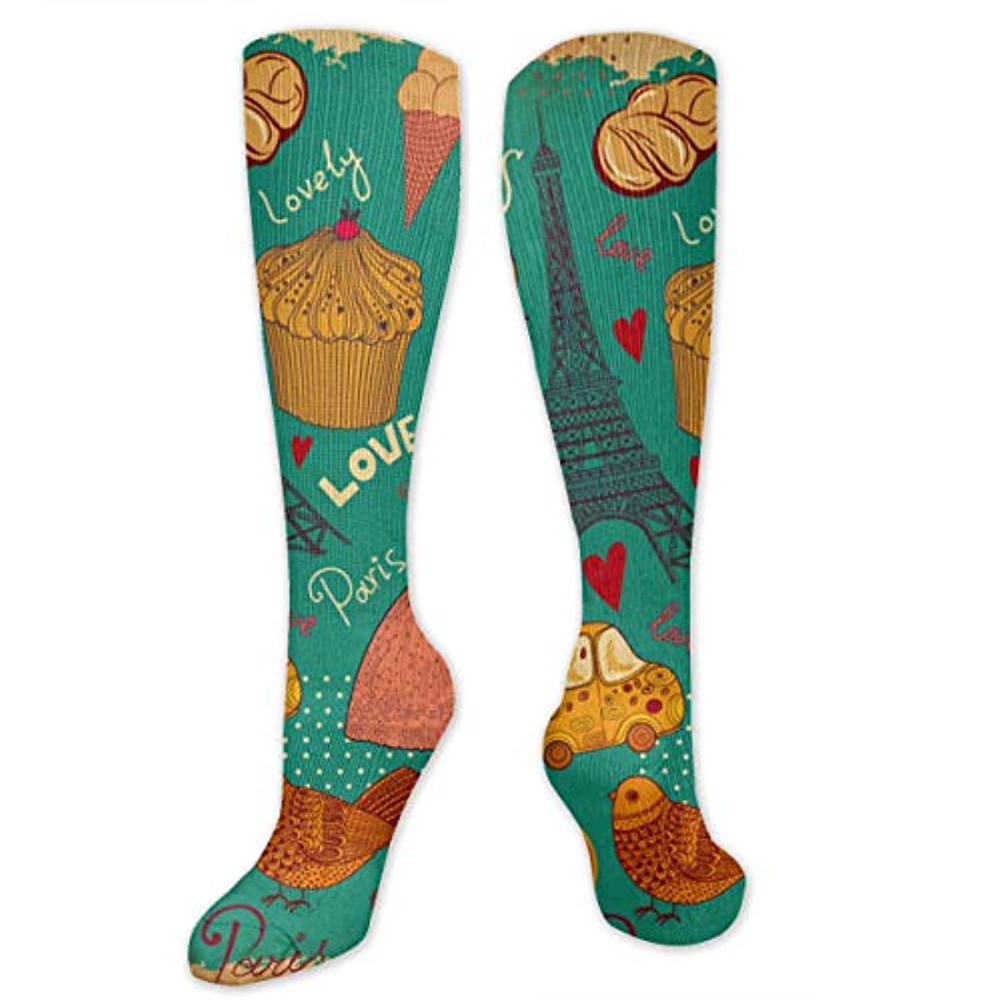 召集する着飾る特殊靴下,ストッキング,野生のジョーカー,実際,秋の本質,冬必須,サマーウェア&RBXAA Eiffel Tower Birds Socks Women's Winter Cotton Long Tube Socks Cotton...