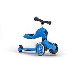 スクート&ライド ハイウェイキック1 工具不要で切替できるキッズスクーター⇔ペダルなし自転車の2wayスクーター ブルー