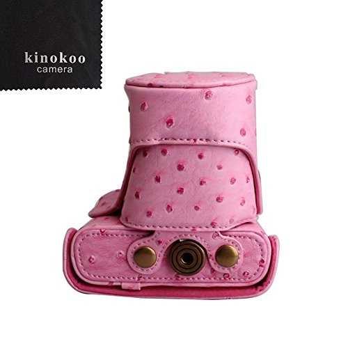 kinokoo  Nikon ミラーレス一眼 J1 /J2 専用カメラケース Nikon J3 /J4 /S1ミラーレス一眼カメラ 対応 10-30 mm / 30-110mm レンズ 対応 三脚ネジ穴付き ショルダーストラップ 標識クロス付き(PK)