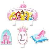 ディズニー プリンセス 誕生日 1st ケーキ キャンドル 4点セット