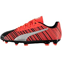 Puma One 5.4 Firm Ground FG Football Boots Childrens Black Soccer Cleats Shoes