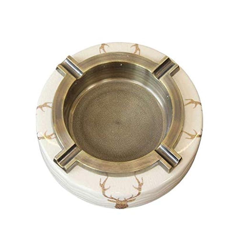 柱大宇宙拒絶かわいい灰皿 灰皿HJBHモダンライトラグジュアリークリエイティブアイスクラックセラミック合金リビングルームのコーヒーテーブルオフィスハイエンドの家の装飾の装飾品(サイズ:16.5X16.2X4.3cm)ベージュ 写真かわいい灰皿ポータブルたばこ灰皿かわいいミニ灰皿