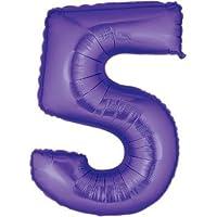 Purple #5 Balloon 40