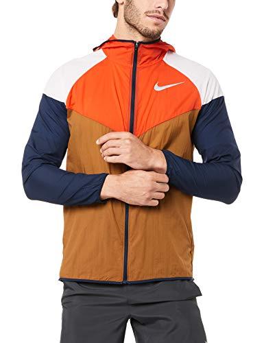 Nike Australia Men's Windrunner Jacket, Ale Brown/Team Orange/Reflective Silver, M