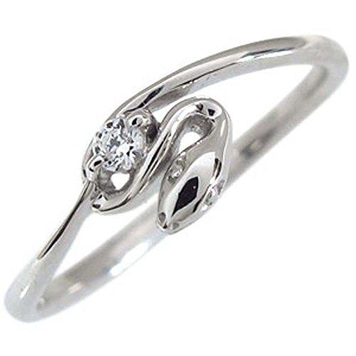 プレジュール プラチナ スネーク へび ダイヤモンドリング 指輪 リングサイズ7号