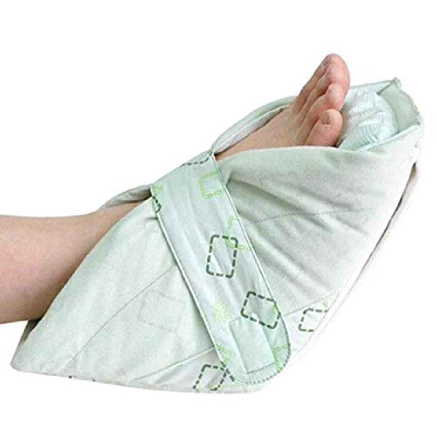 流出理想的には床を掃除するかかと保護フットピローソフトコンフォートヒールパッドプロテクターアンチベソア足首サポートフットピロー高齢者用足補正カバー(1個)