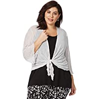 Beme Elbow Sleeve Crinkled Mesh Cover Up - Womens Plus Size Curvy