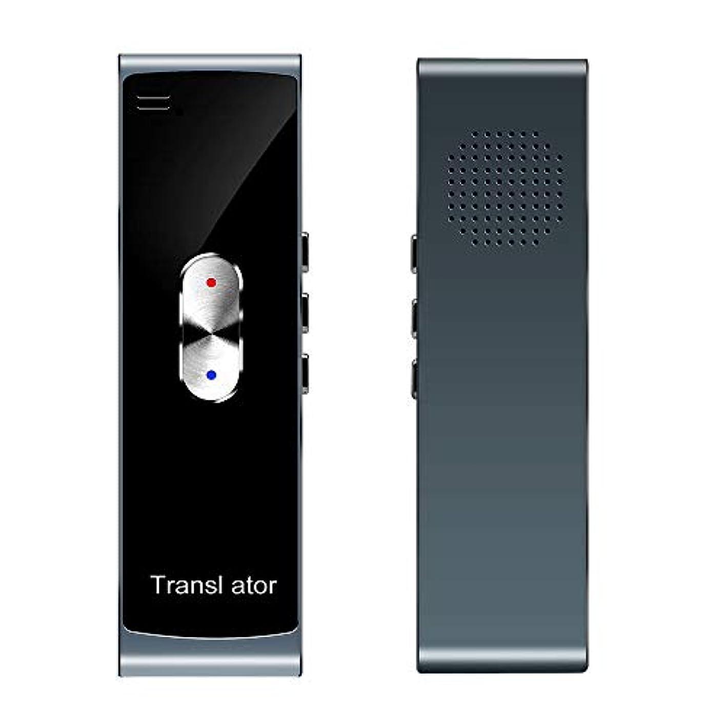 フレット手順属するスマート言語トランスレータ、ポータブルミニ多言語スマートリアルタイムトランスレータ42言語APPトランスレータBluetoothワイヤレス双方向インスタントボイス (Color : Silver)