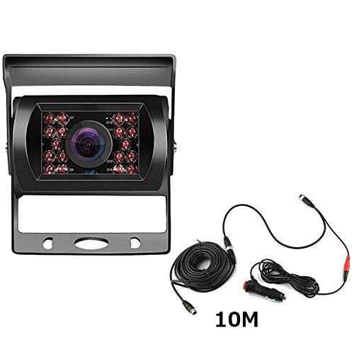 OBEST 12V-24Vバックカメラ 4ピンコネクタケーブル LED 乗用車 トラック バス 重機...