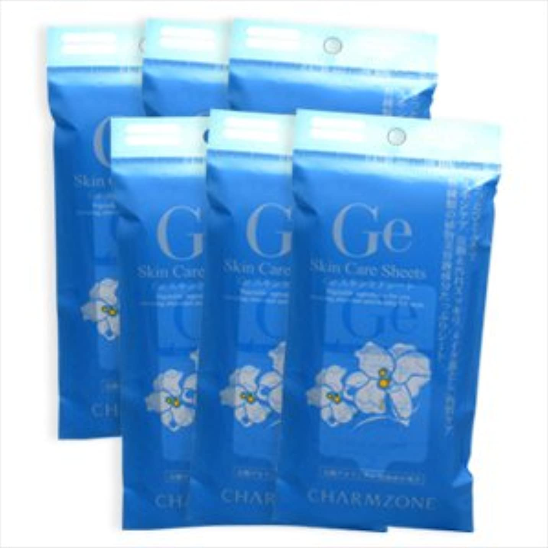 石のマニフェスト生産的チャームゾーン Geスキンケアシート 10枚入 (香り:リリー, 6個セット)