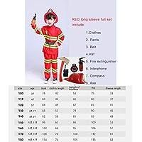 消防士 子供 派手なドレスハロウィーンコスプレ衣装パーティーユニフォームセットおもちゃ消防士面白い帽子の斧アクセサリー 5T スーツ