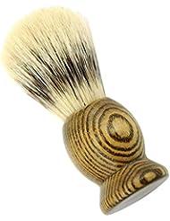 Hellery メンズ用 髭剃り ブラシ シェービングブラシ 男性 ギフト 理容 洗顔 髭剃り ボックス付