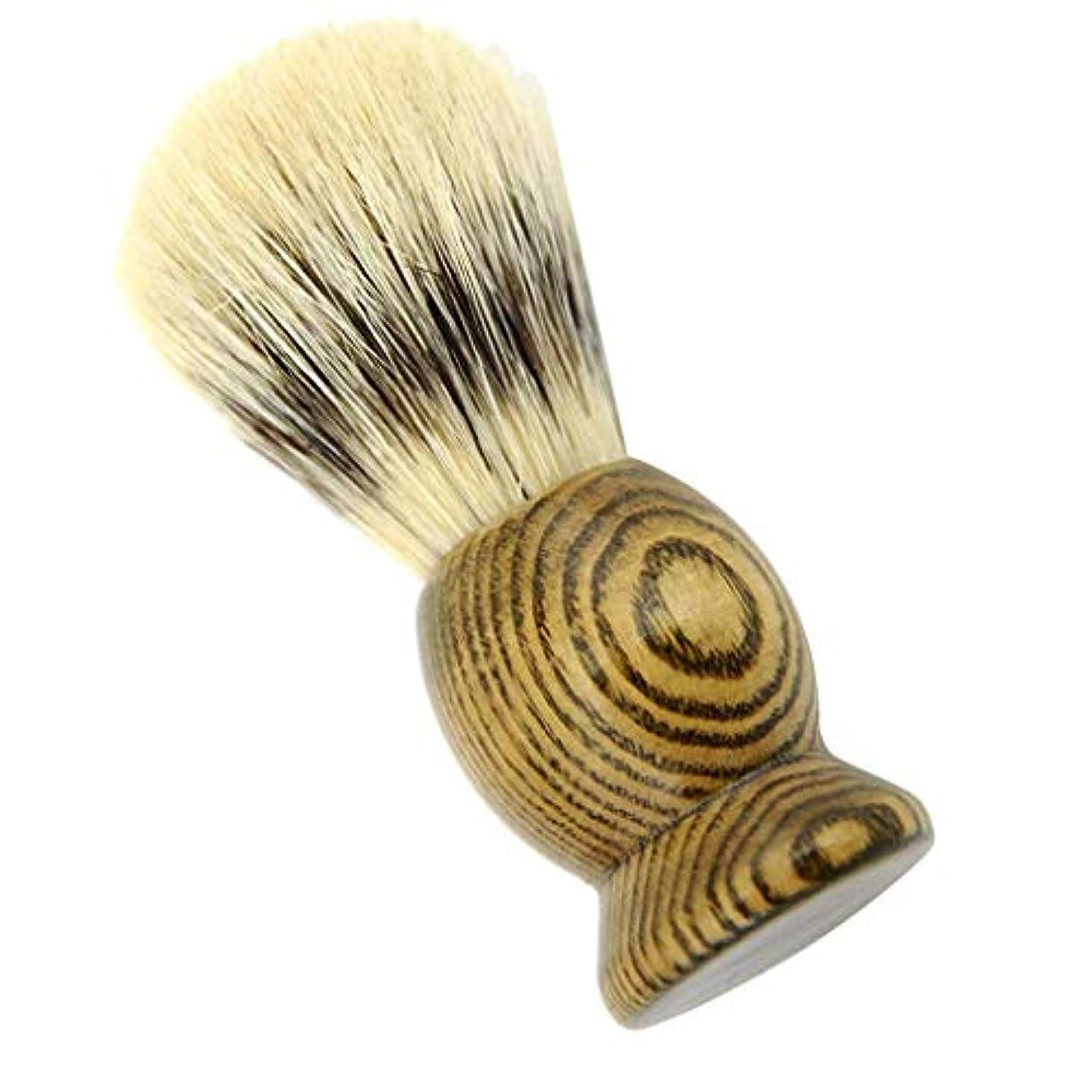 ビヨン脅迫コーンHellery メンズ用 髭剃り ブラシ シェービングブラシ 男性 ギフト 理容 洗顔 髭剃り ボックス付