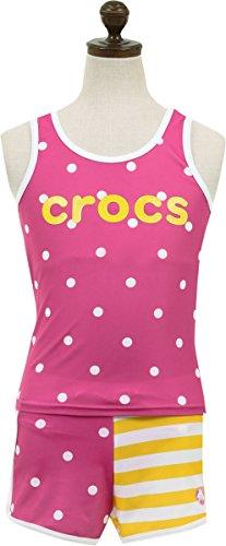 (クロックス)Crocs 女の子子供セパレート水着【125-743】150cmピンク