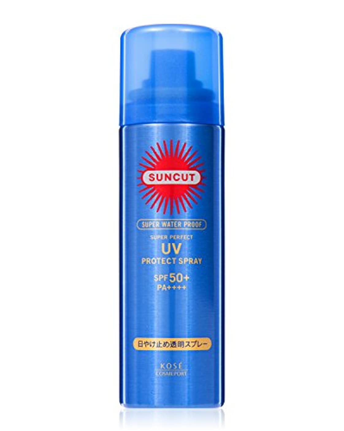 ガム誓約意図するKOSE コーセー サンカット 日焼け止め 透明 スプレー 無香料 50g SPF50+ PA++++ スーパー ウォータープルーフ