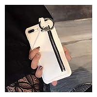 HTXXIU 携帯カバ スマホスマートフォンケース for Iphone 11/XS/X/XS/8/7/6 かわいい 携帯スマートフォンケース 軽量 保護スマートフォンケース カバー 小銭 前端スマートフォンケース (Color : 白, Size : Iphone6p/6Splus)