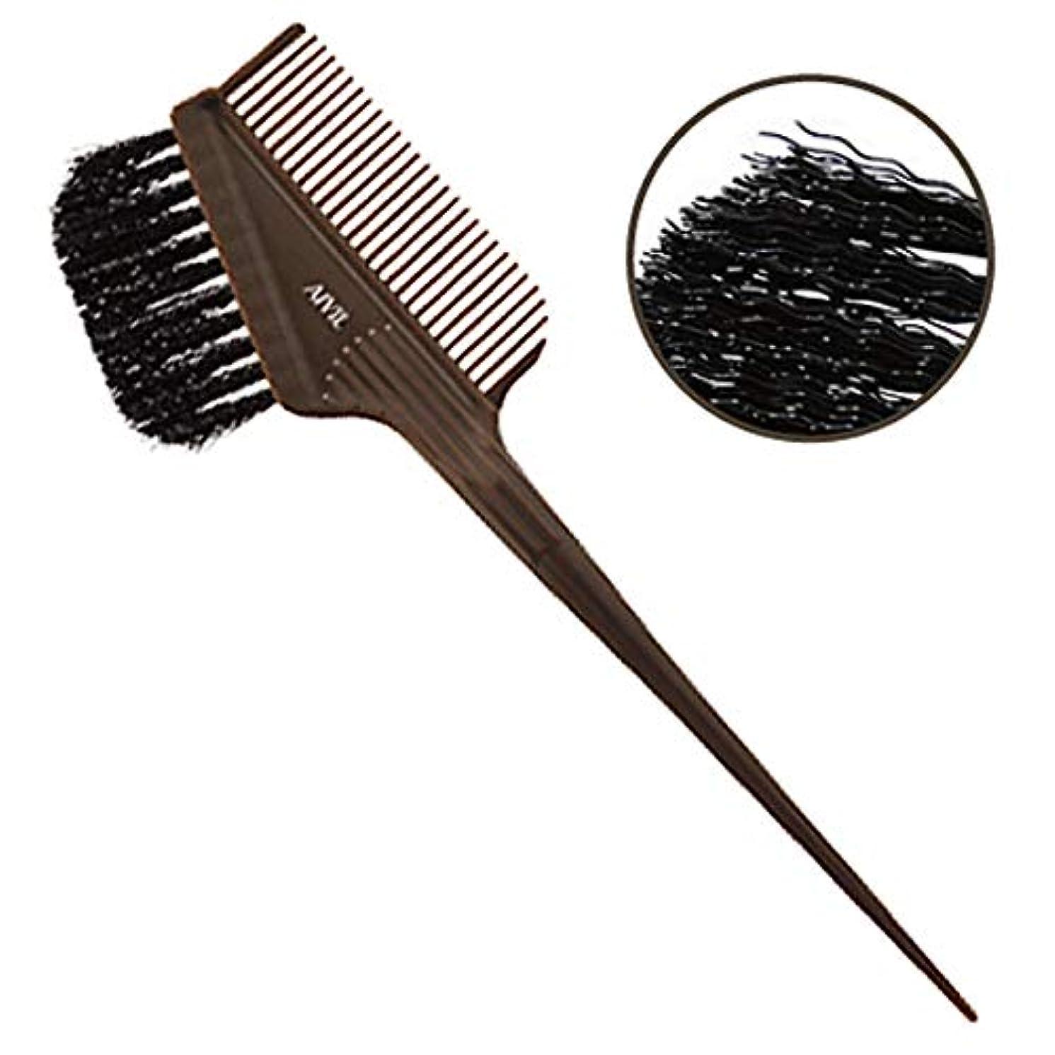 単位ロゴしっとりアイビル ヘアダイブラシ バトン ブラウン ウェーブ毛 刷毛/カラー剤/毛染めブラシ AIVIL