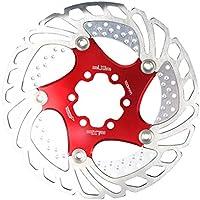 VORCOOL 自転車ディスクブレーキローター6ボルトバイクローターバイクアクセサリーフィットロードバイクマウンテンMTB BMX自転車(赤)