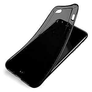 AndMesh iPhone 8, iPhone 7 両対応専用 ケース Plain Case クリアケース ジェットブラック対応 (クリアブラック)